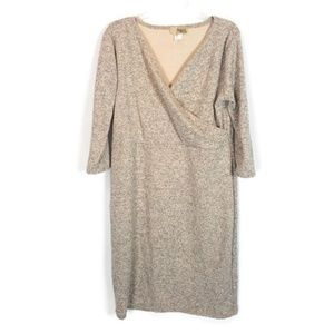 Hybrid & Company Cream Sweater Dress 3X